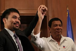 Duterte 'wants to make' Pacquiao president
