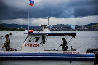 Security forces patrol Lake Lanao in search of Maute escapees