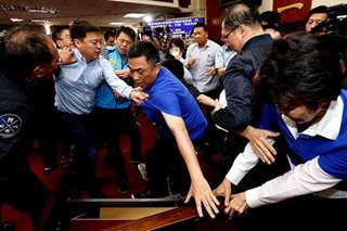 LOOK: Taiwan politicians brawl during heated debate