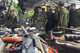Duterte tells new AFP chief to destroy Marawi firearms