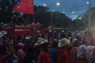 Mga militante, nagprotesta sa harap ng US Embassy