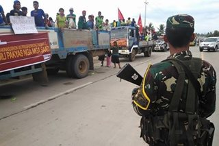Protesters held at Misamis Oriental checkpoint