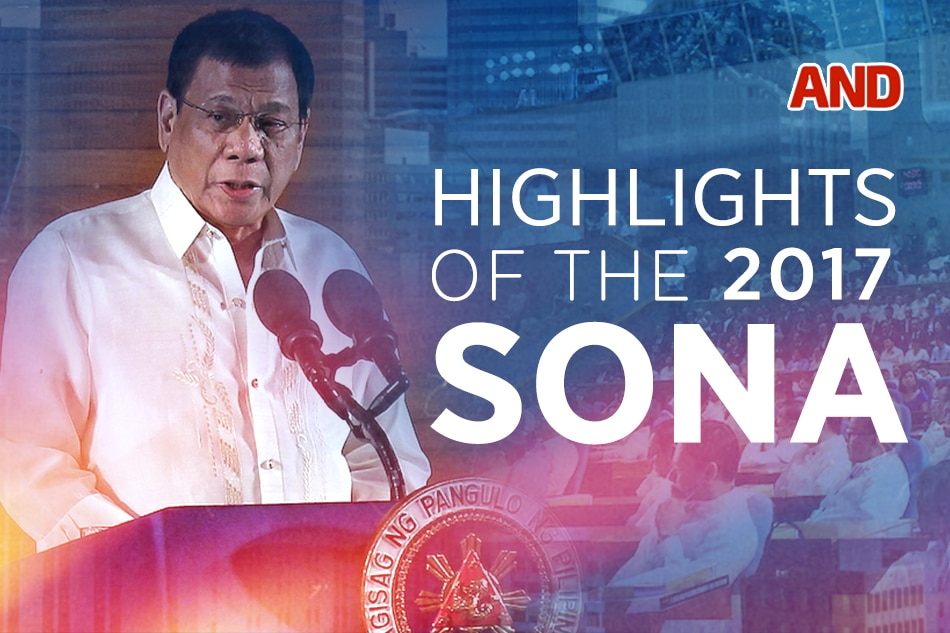 Highlights of the 2017 SONA   ABS-CBN News