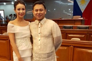 Sonny Angara's wife recycles old prom dress for SONA 2017