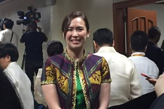 LOOK: Senate President's partner attends Senate's opening session