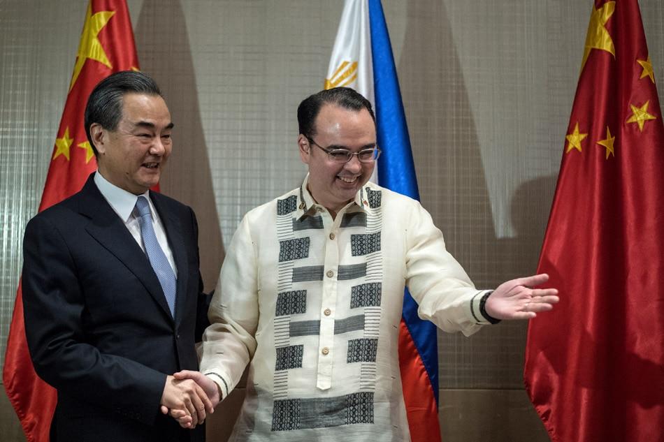China's Wang Yi in PH, meets Cayetano