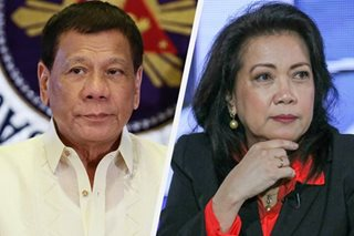 Duterte welcomes Sereno's possible senatorial bid