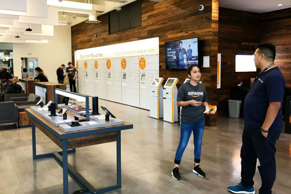 Amazon's new instant pickup service is available at its College Park location