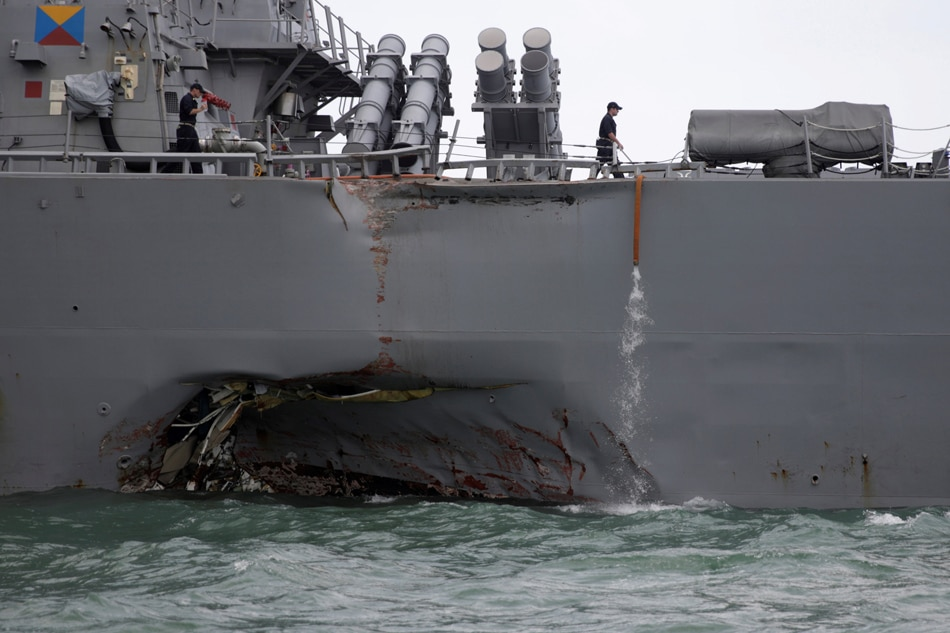 US destroyer collision which killed 10 sailors caused by 'sudden turn' - Singapore