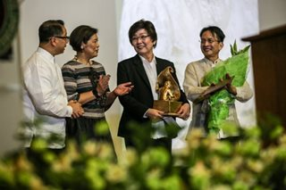 Tina Monzon-Palma receives UP's Gawad Plaridel award