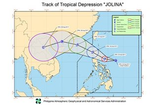 3 areas under signal no. 1 as 'Jolina' becomes tropical depression