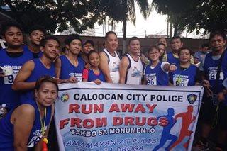 Fun run vs droga inilunsad ng Caloocan police