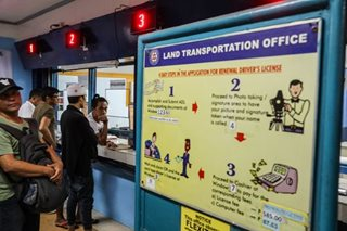 LTO's driver's license renewal in malls now open on Saturdays