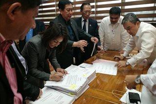25 lawmakers endorse Sereno impeach rap