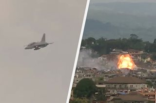 WATCH: Air force bombs suspected Maute supply depot in Marawi