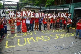 Lumad kids call: 'Eskwela, hindi Bomba'