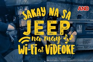 Sakay na sa jeep na may Wi-Fi at videoke