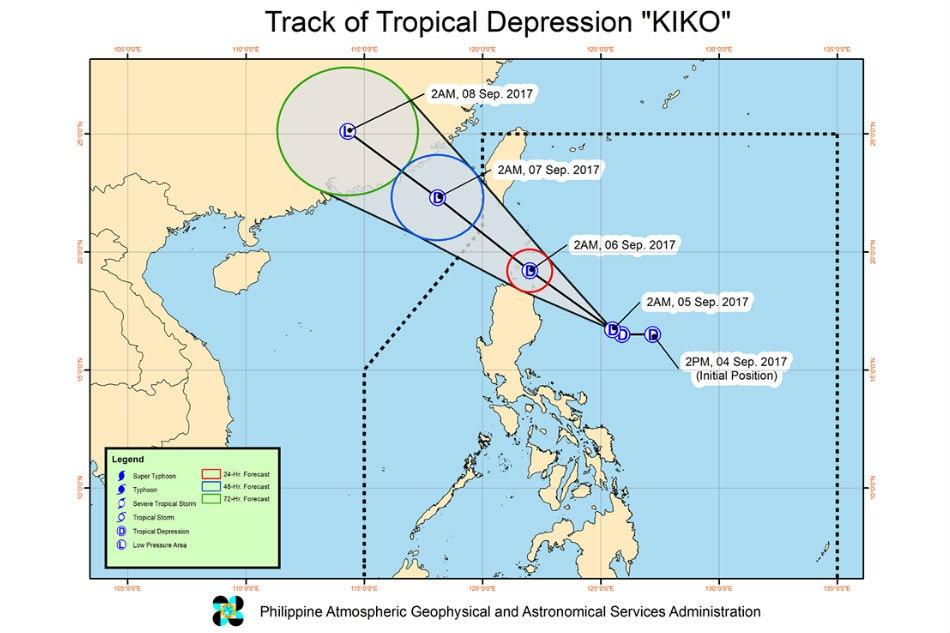 Tropical depression 'Kiko' to make landfall on Wednesday