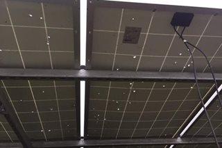 Planta ng solar power sa Negros Occ, pinaputukan