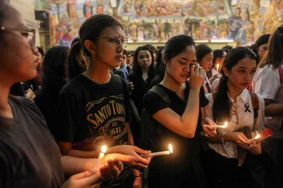UST mourns law student killed in hazing rites