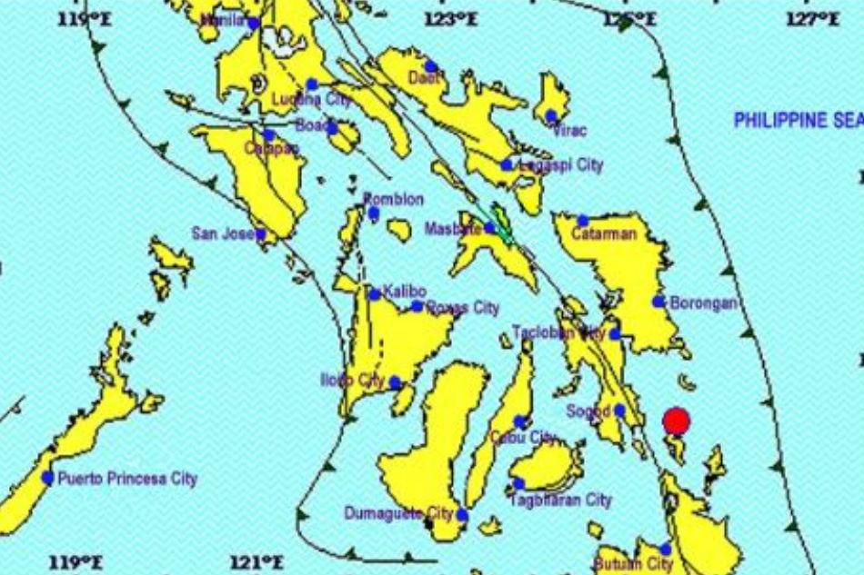 Magnitude 4.8 earthquake rattles Dinagat island