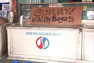 NFA, bigong makakuha ng supplier para sa kanilang buffer stock