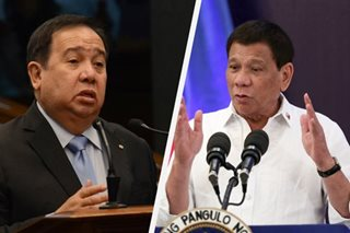 Gordon on Duterte tirade: He may be tired or 'baka may nanggagatong'