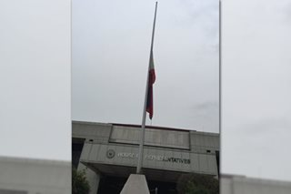 Flag in Batasan flown at half-mast as lawmakers mourn passing of Abad