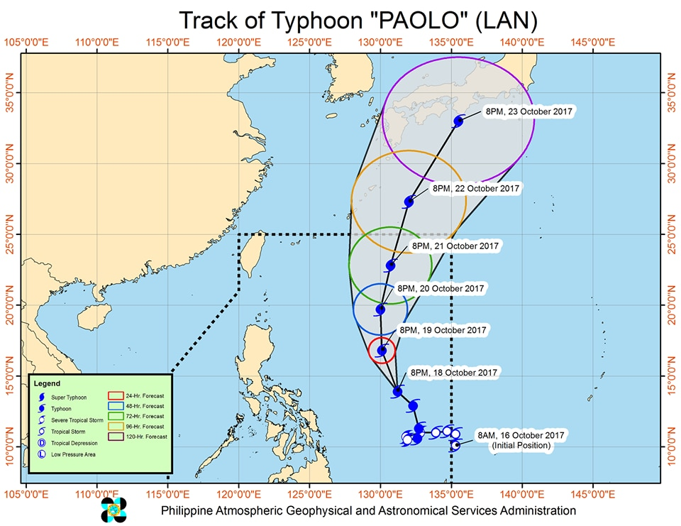 Paolo to bring rains until weekend