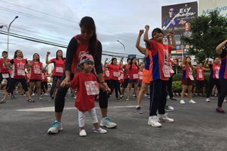 Libo-libo lumahok sa humanitarian run ng Red Cross