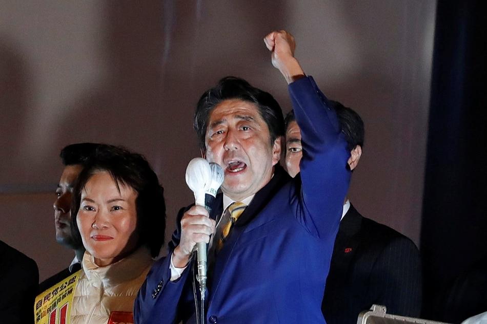 Abe set for fresh term as Japan votes under N. Korea threats