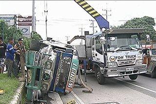 Jeep nawalan ng preno sa Marcos Highway; 6 sugatan