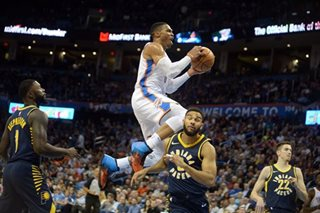 Westbrook triple double sparks win, LeBron's comes in loss