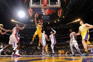 NBA: Lakers snap Pistons' win streak