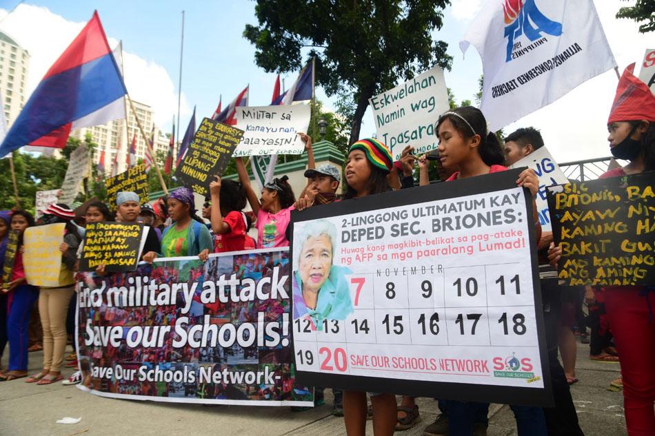 'Protect Lumad schools'