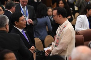Cayetano in APEC meeting