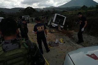Pulis at sanggol patay sa ambush sa Bukidnon