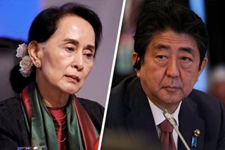 Japan's Abe offers $1 billion in rural aid to Myanmar's Suu Kyi