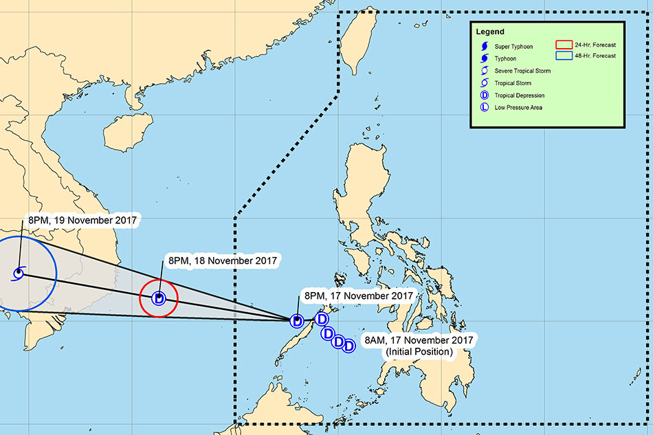Storm signal over Palawan lifted as 'Tino' approaches West PH Sea