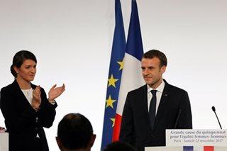 France's Macron unveils plan to curb violence against women