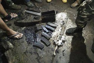 Mga baril at motorsiklo, nasunog sa kampo ng militar sa Camarines Sur
