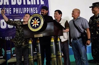 LOOK: 'Selfie king' Bong Go poses with 'the Punisher, the Rock, Steven Seagal'
