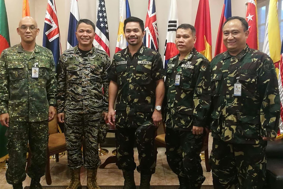 Pacquiao honored to be promoted to army colonel
