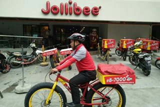 Jollibee tries bicycle delivery service