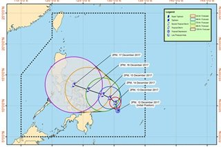 LPA east of Surigao del Sur now a tropical depression