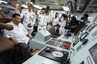 Duterte visits Pakistan Navy ship