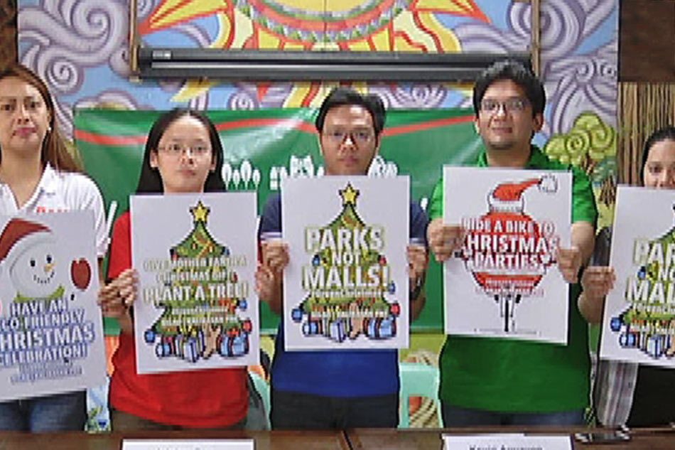 'Green Christmas,' isinusulong ng mga environmentalist