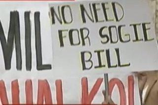 Mga grupong tutol sa SOGIE bill, nagsanib-puwersa sa EDSA