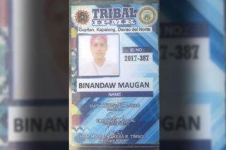 Tribal leader sa Davao del Norte patay sa pamamaril ng hinihinalang NPA