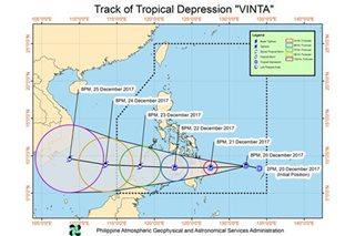 Vinta nears Mindanao ahead of Christmas weekend